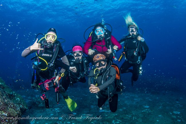 Happy divers in Thailand
