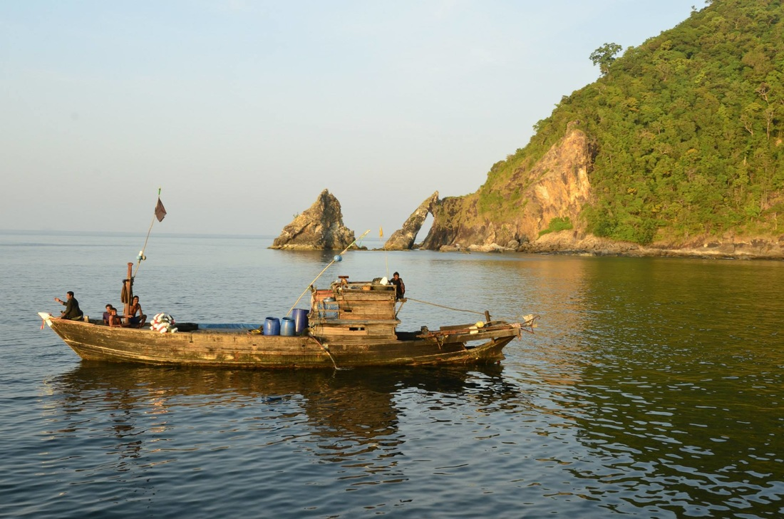 Sea gypsies in Mergui Archipelago