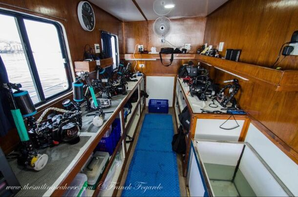 Photographer room on MV Smiling Seahorse