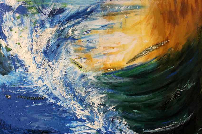 Tsunami painting by Stephanie Peters